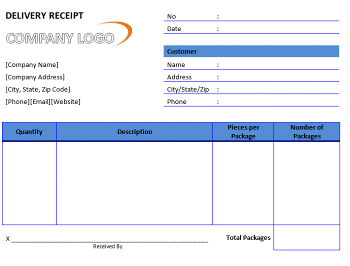 Delivery Receipt Template Receipt Template Free Receipt Template Coupon Template