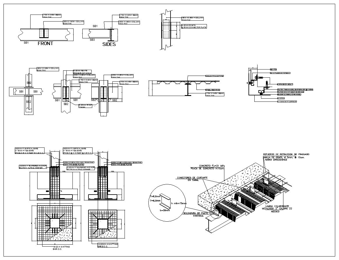 Steel Structure Detail Cad Drawings Download (https://www ...