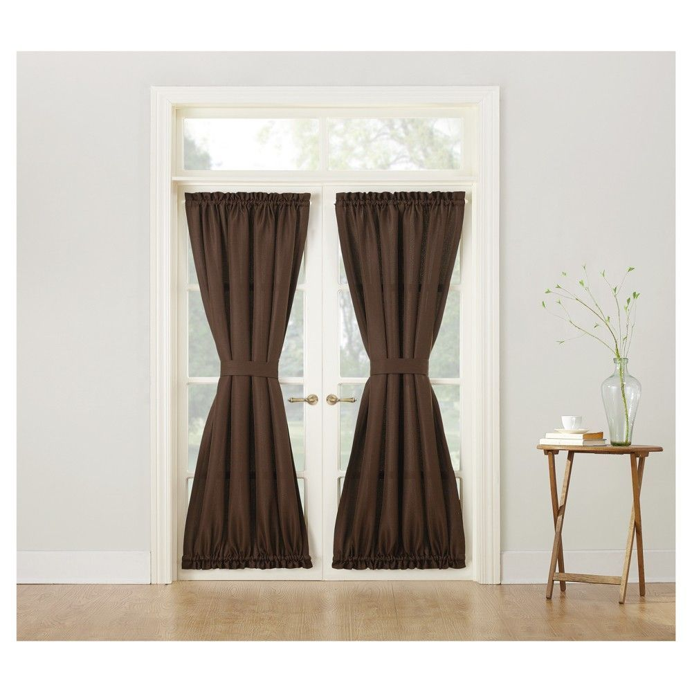 Montego Casual Grommet Door Panel Chocolate Brown 48 X72 No