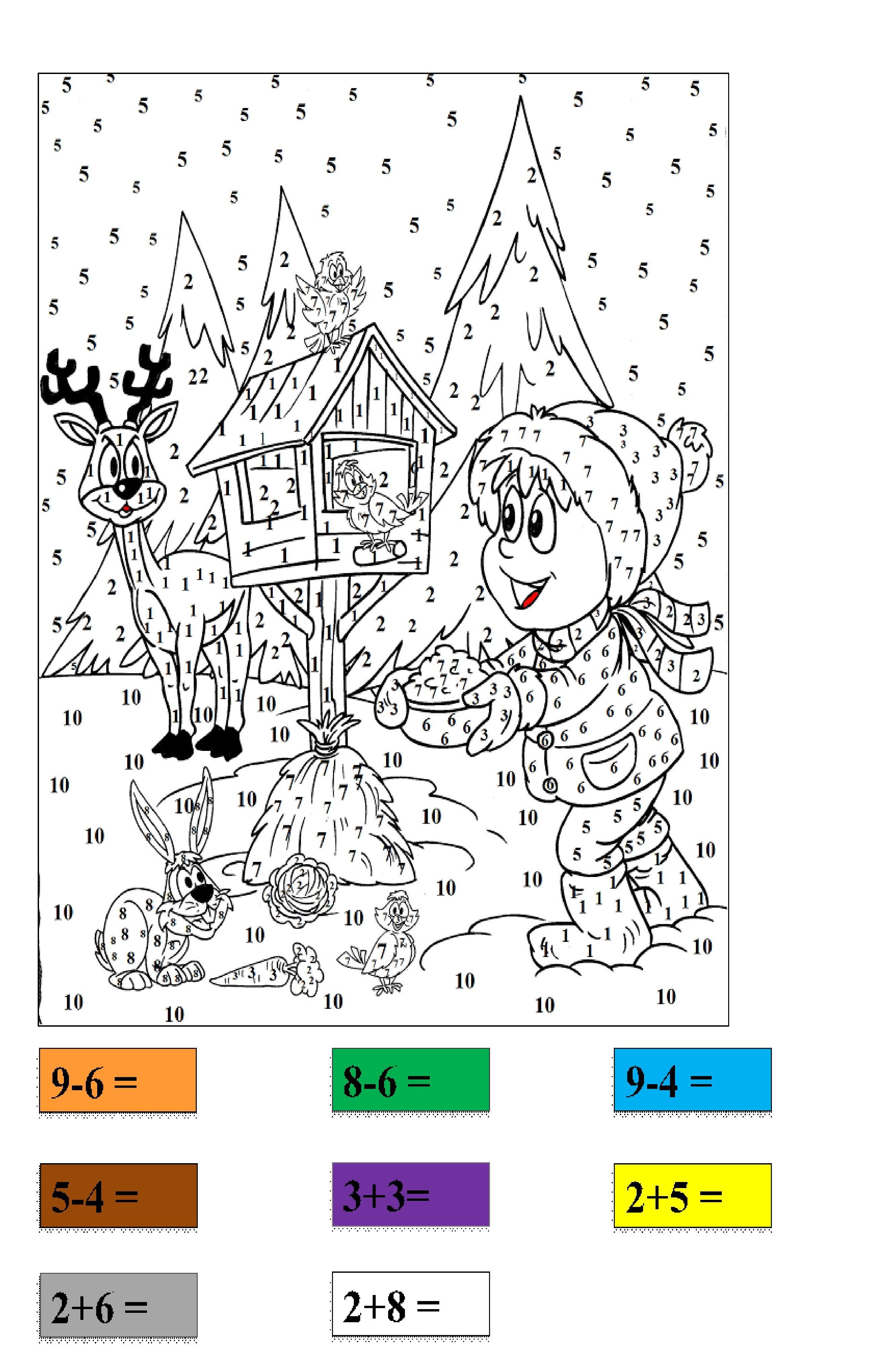 Matematyczne Kolorowanki Karty Pracy Dlabelfra Pl Math For Kids Math Kids
