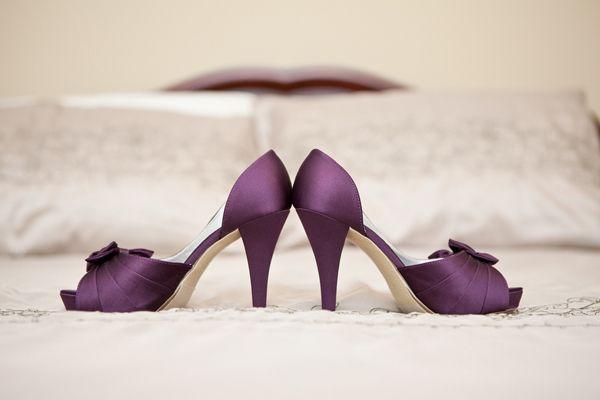 Trendy Bride Mississauga Ontario Canada Real Wedding Purple
