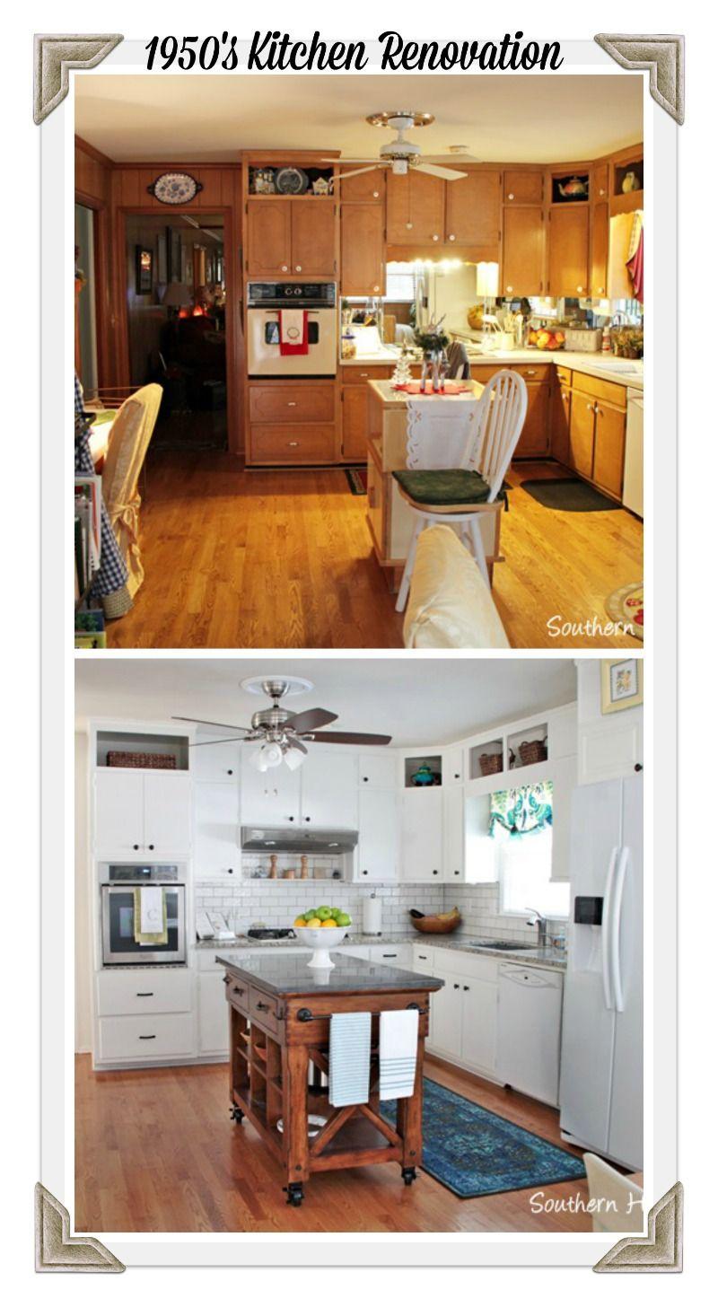 Best Kitchen Gallery: 1950's Brick Ranch Kitchen Renovation Reveal 1950s Kitchen of 1950s Kitchen Cabinets on rachelxblog.com