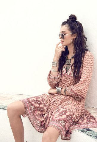 Sunset Road Boho Dress - Peach by Spell Designs at The Freedom State