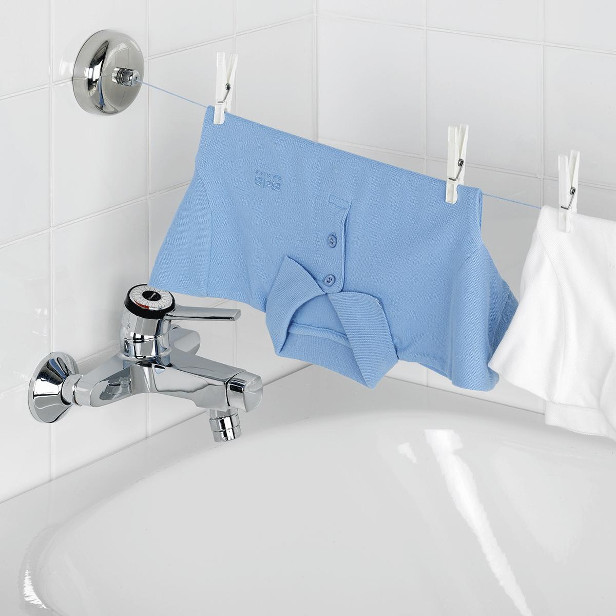 corde linge r tractable en inox buanderie etendoir buanderie en 2019 pinterest. Black Bedroom Furniture Sets. Home Design Ideas