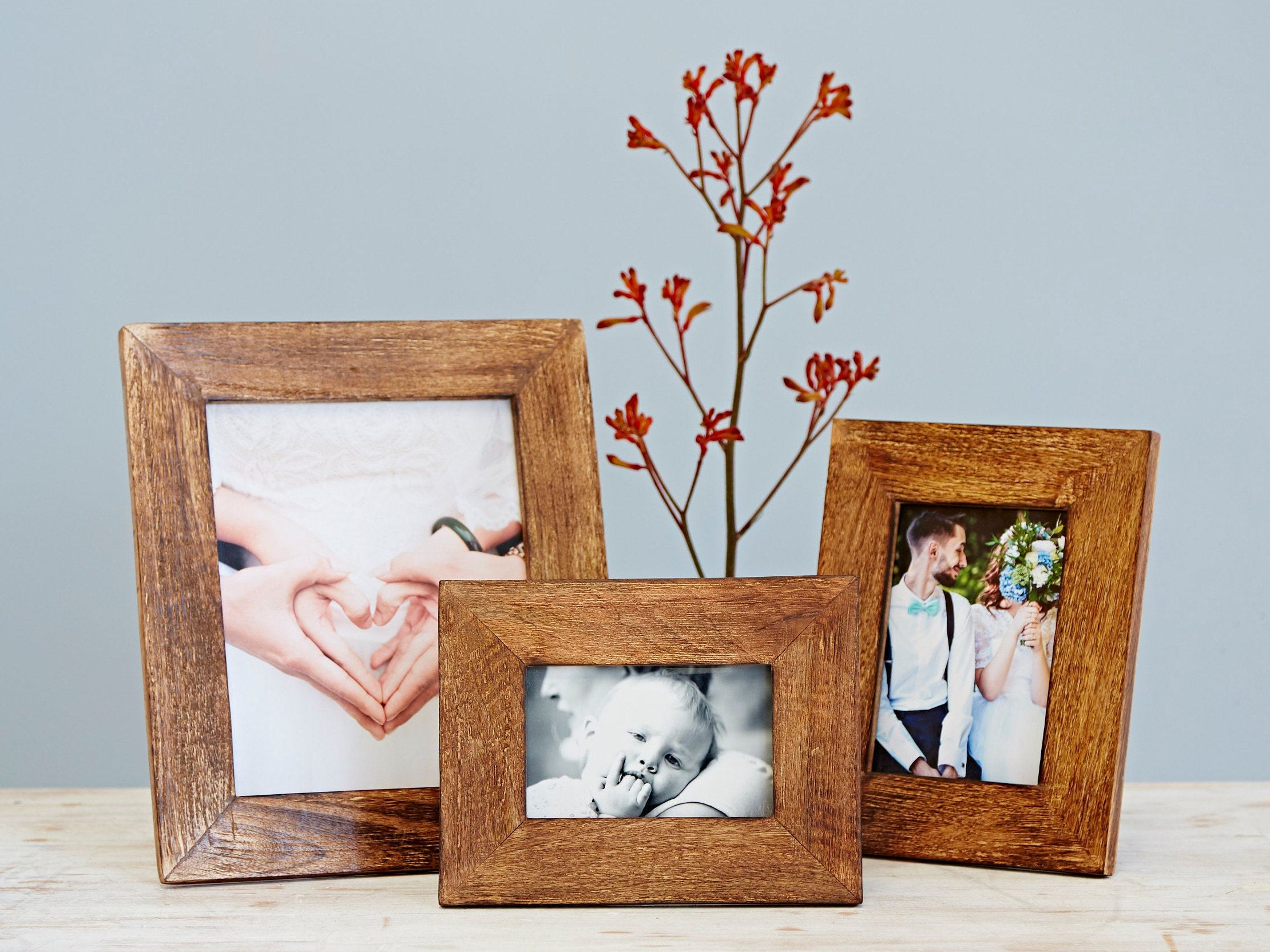 Handmade Natural Wooden Photo Frame 4x6 Picture Frame 5x7