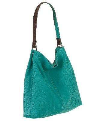 d97493b48385 Owen Barry Bombay Turquoise Suede Dillie Slouch Shoulder Bag ...