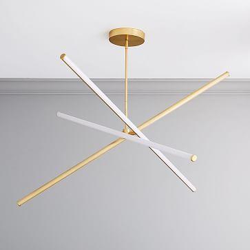 Light Rods Led Chandelier Large Antique Brass Westelm Led Chandelier Minimalist Lighting Modern Chandelier