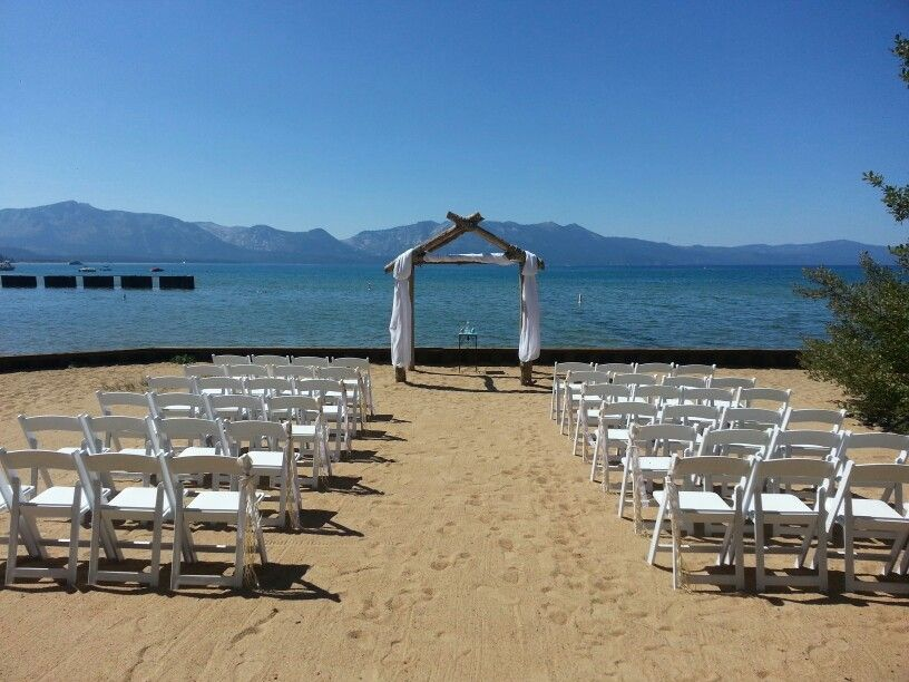 At Tahoe Weddings And Special Events Lakeside Beach Wedding Arches