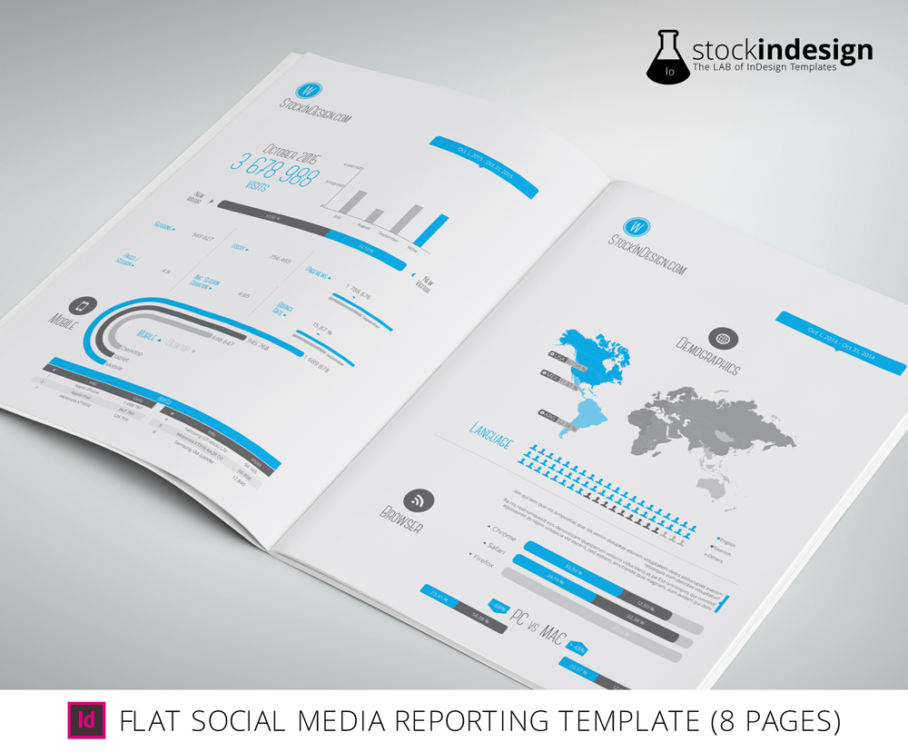 FREEBIE] InDesign Social Media Reporting Template (8 Pages ...