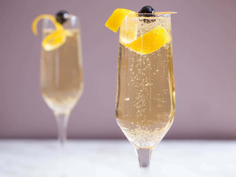 Resultado de imagem para Cocktail de espumante e gin