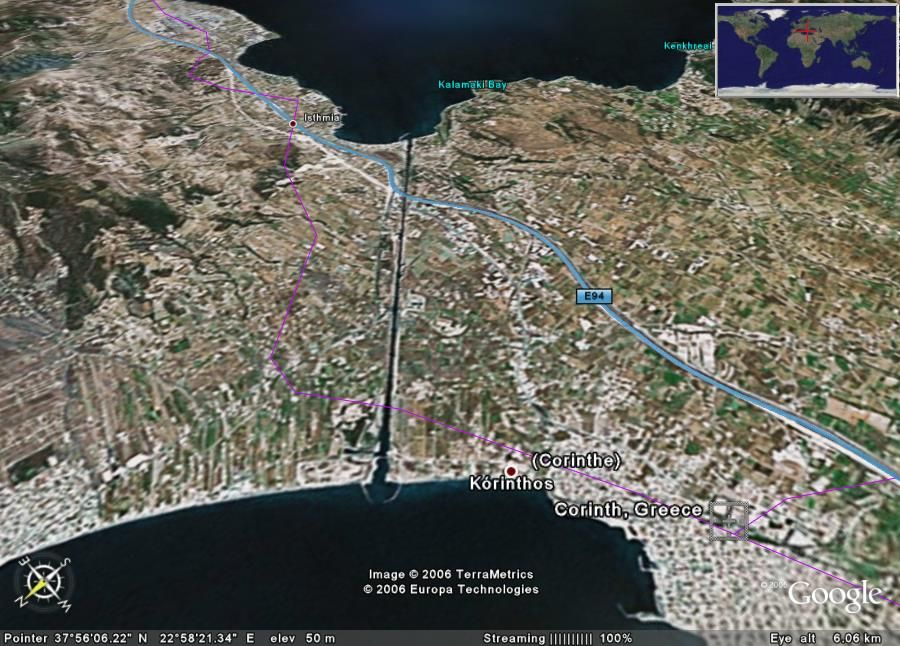 Image detail for CKD Boats Roy Mc Bride The Corinth Canal in