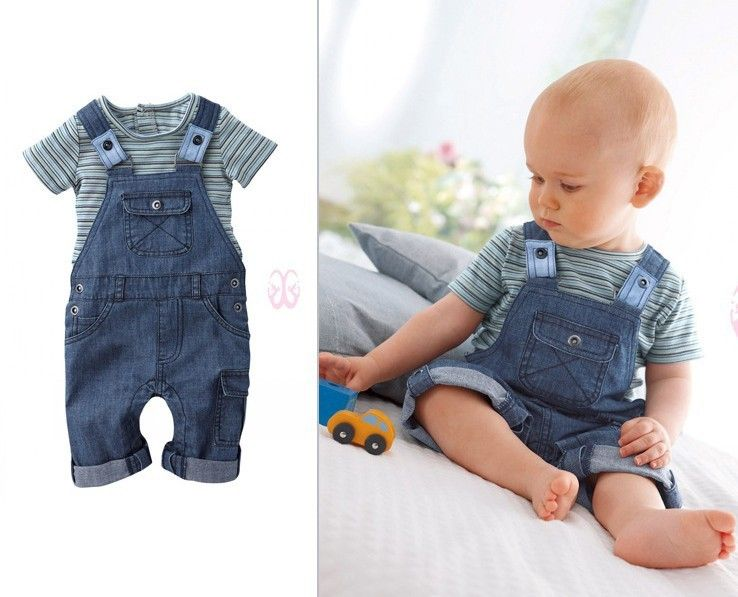 2013 New arrival Baby suit Boy s cowboy overalls   suspenders + T Shirt  Baby clothing set Free shipping-in Clothing Sets from Apparel   Accessories  on ... ba8460134