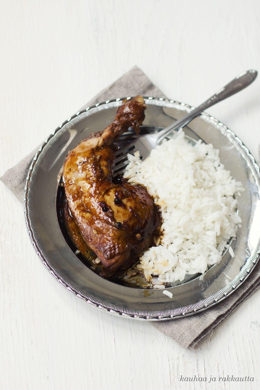 Adobo on filippiiniläisen keittiön ylpeys - joka syntyy helposti myös lähimarketin aineksista.