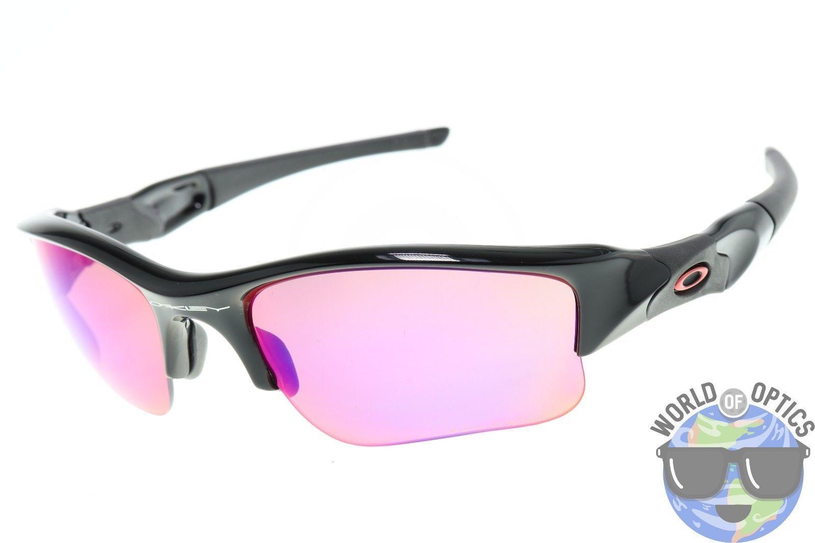 Oakley Flak Jacket XLJ Sunglasses 26-220 Polished Black w/ Red Iridium  Polarized