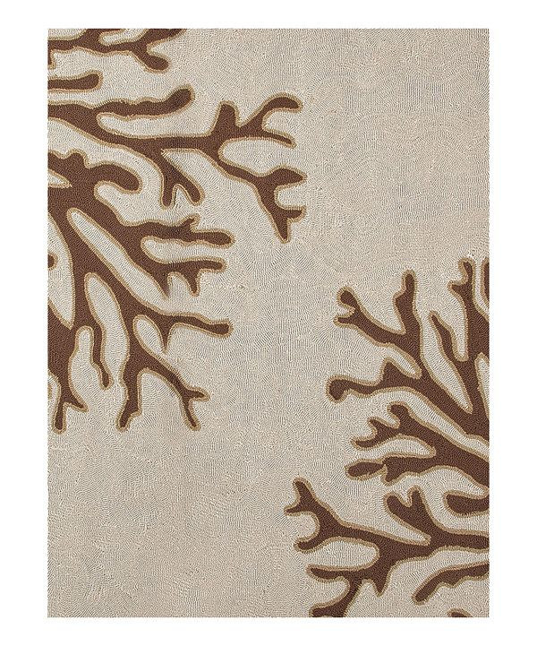 Take a look at this Brown & Ivory Coral Branch Indoor/Outdoor Rug on zulily today!