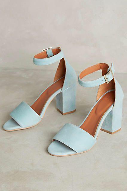 Light blue Iridescent Heeled Sandals
