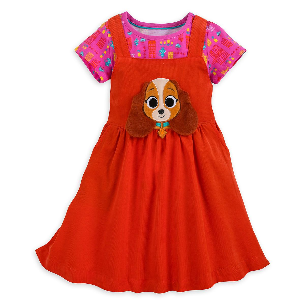 Lady and the tramp dress set for girls disney pinterest