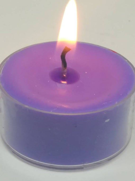 Purple Tealight Halloween Candles - Tea light Candles for Candle Magick Ritual and Spellwork - Wiccan Altar Candles for Witchcraft #candlemagick