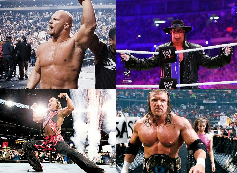 Which Superstar Is Best Superstar Of All Time Stone Cold Steve Austin Vs The Undertaker Vs Shawn Michael Vs Tripl Shawn Michaels Steve Austin Stone Cold Steve
