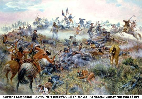 The Custer Fight  Giclee Canvas Print Charles Marion Russell