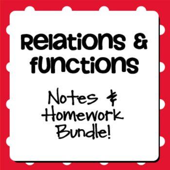 Relations and Functions (Algebra 1 Curriculum - Unit 3