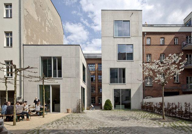 David Chipperfield Buro Berlin Beton Architektur Architektur Fassade Haus