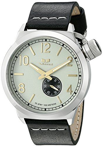 Men's Wrist Watches - Vestal Unisex CNT3L01 Canteen Leather Analog Display Quartz Black Watch *** Want to know more, click on the image. (This is an Amazon affiliate link)