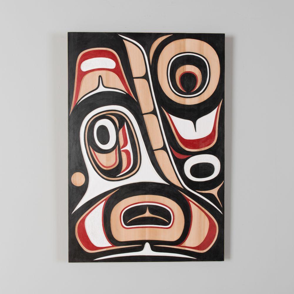 Haida Art Whale Pin on Panels