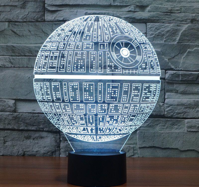 Star Wars Colorful 3d Led Lamp 3d Led Night Light Star Night Light Led Night Lamp