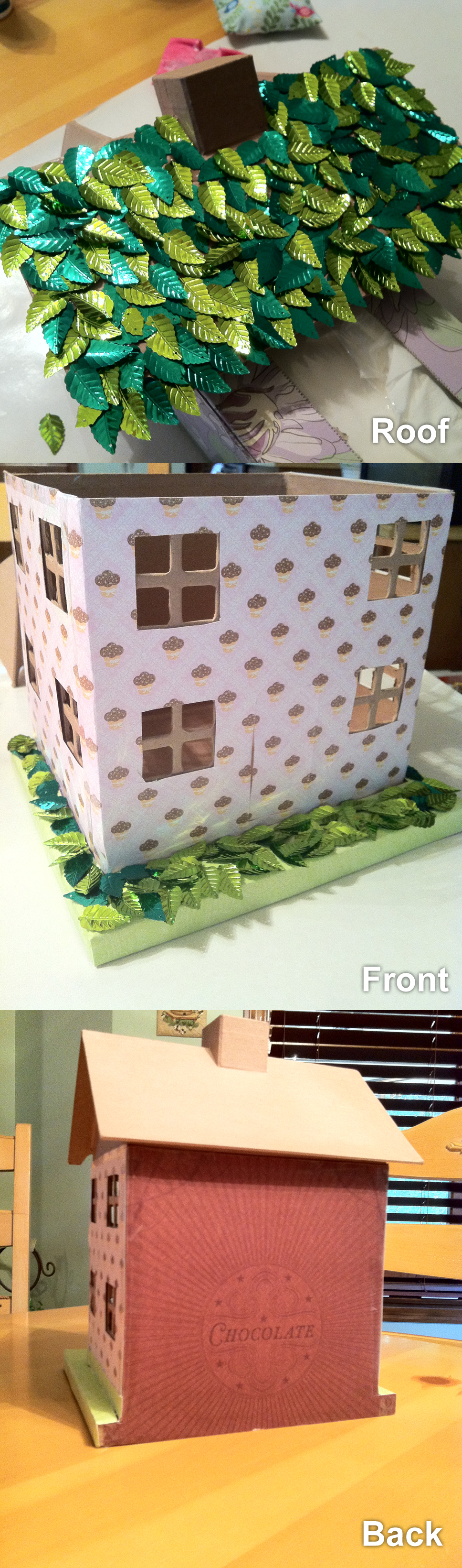 Fairy House Cardboard House From Hobby Lobby Scrapbook Paper