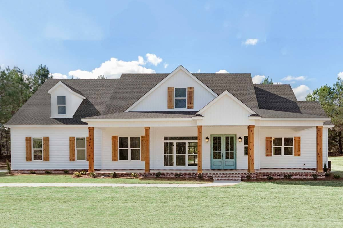 Plan 86323HH: Exciting New American Farmhouse Plan with ...