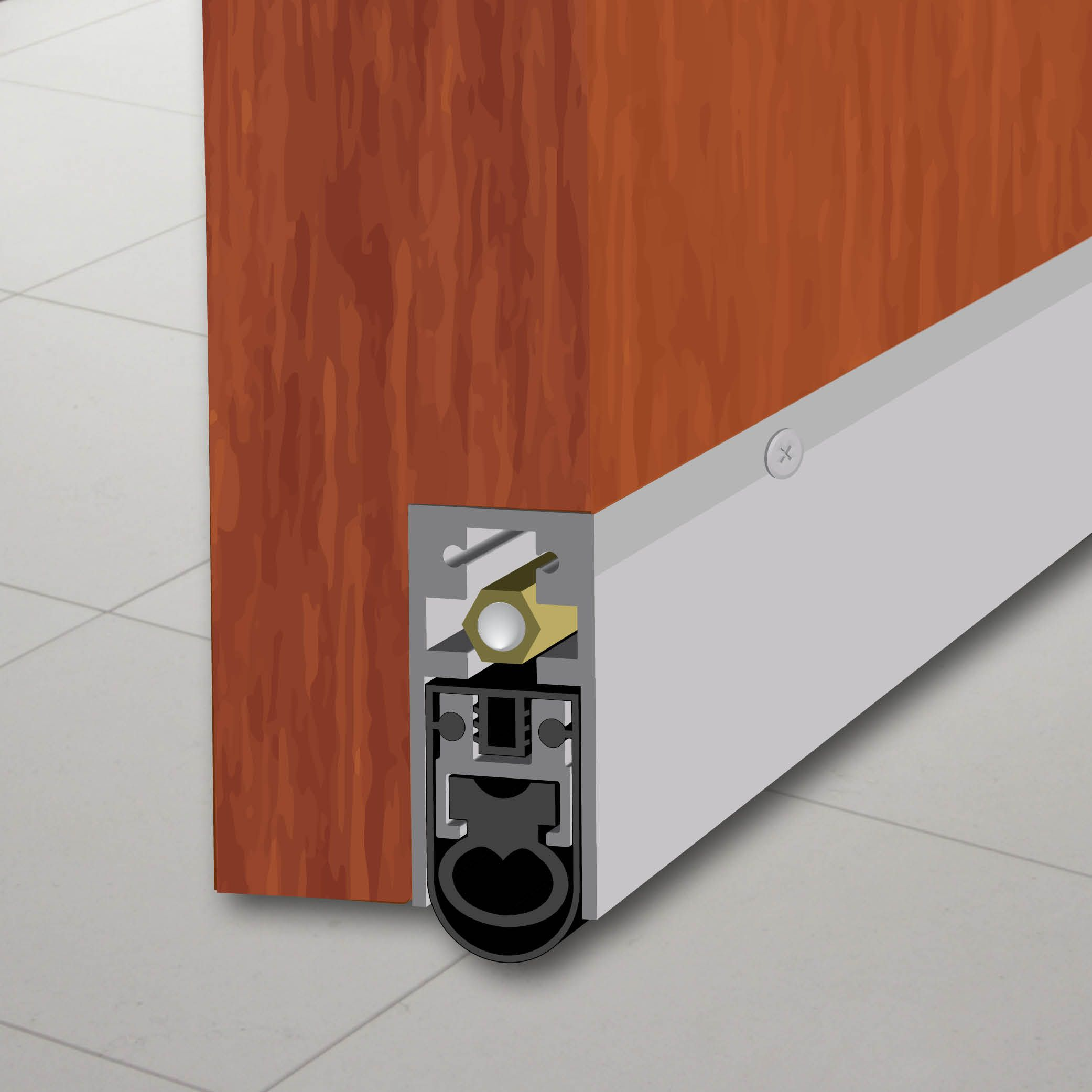 7863 Semi Mortised Automatic Door Bottom Automatic Door Sound Proofing Automatic