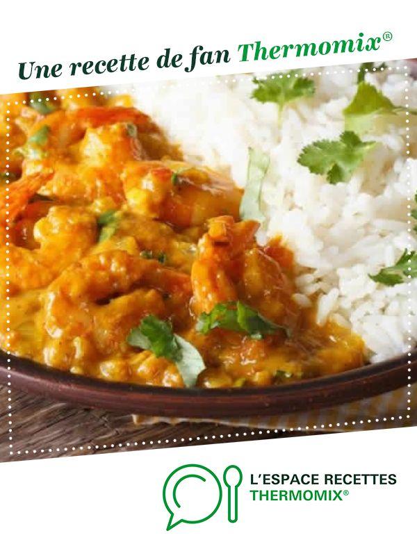 Délice de crevettes au lait de coco et au curry