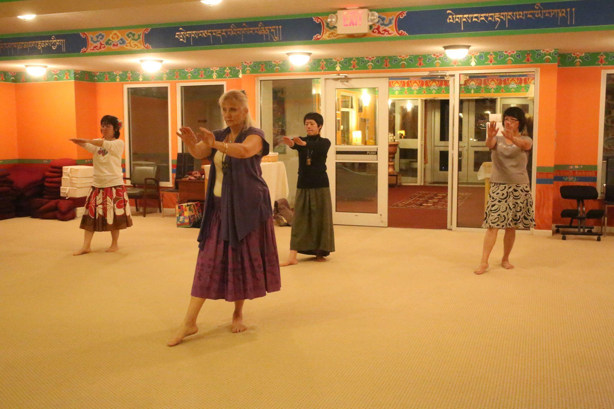 Teaching hula in Bloomington IN