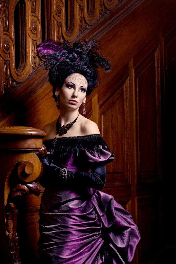 Victorian Vampire Ball Gown Gothic Masquerade Wedding Bustle ...