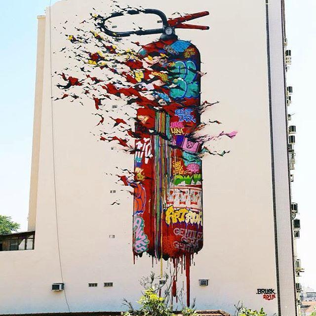 Brusk DMV! - Rio de Janeiro, Brasil.  #bruskdmv #riodejaneiro #brasil #graffiti #streetart #urbanart #elgraffiti #art #mural @bruskdmv