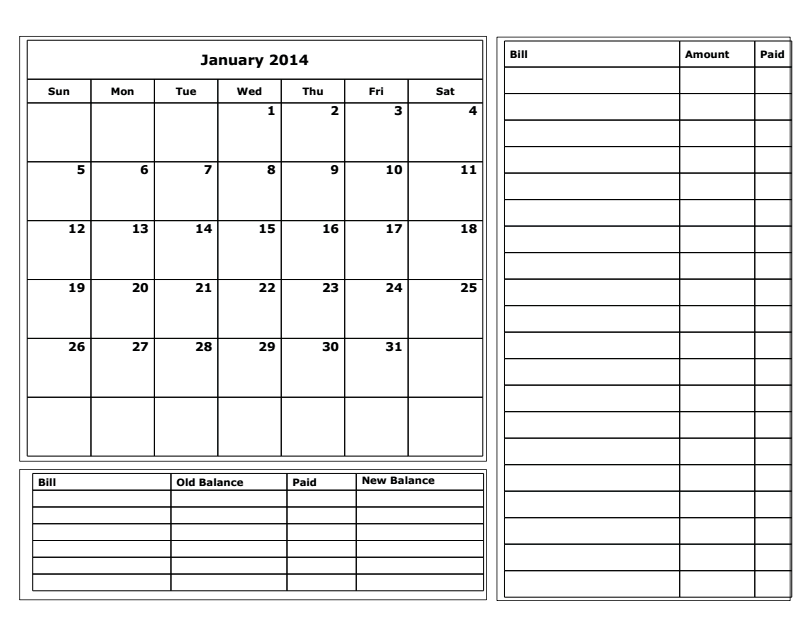photo about Printable Budget Calendar called Free of charge Printable Finances Calendar 2014 Property laws