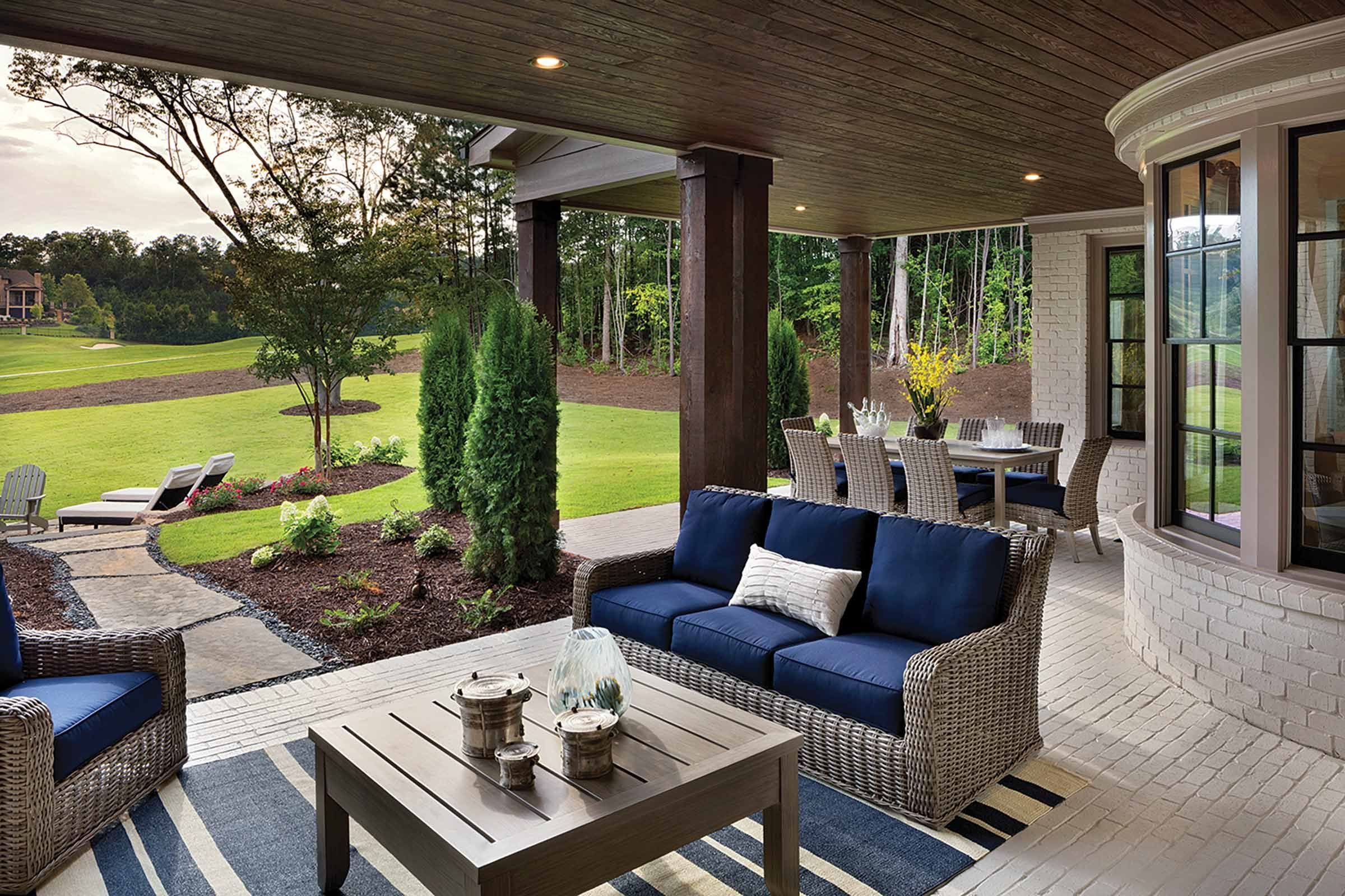 The Bordeaux Plan Offers A Large Outdoor Porch With Plenty
