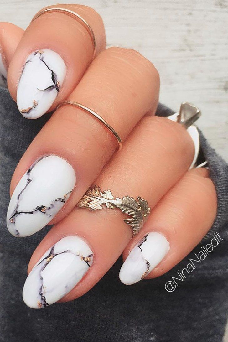 Sharpie Marble Nails #nailart
