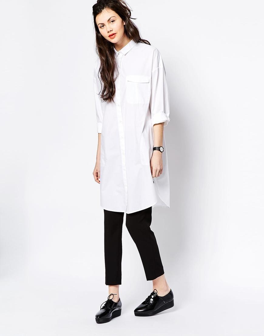 Monki Monki Oversized Shirt Dress At Asos Wear Oversized Shirt
