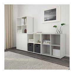 ikea eket storage combination with feet white light gray an asymmetrical storage solution. Black Bedroom Furniture Sets. Home Design Ideas