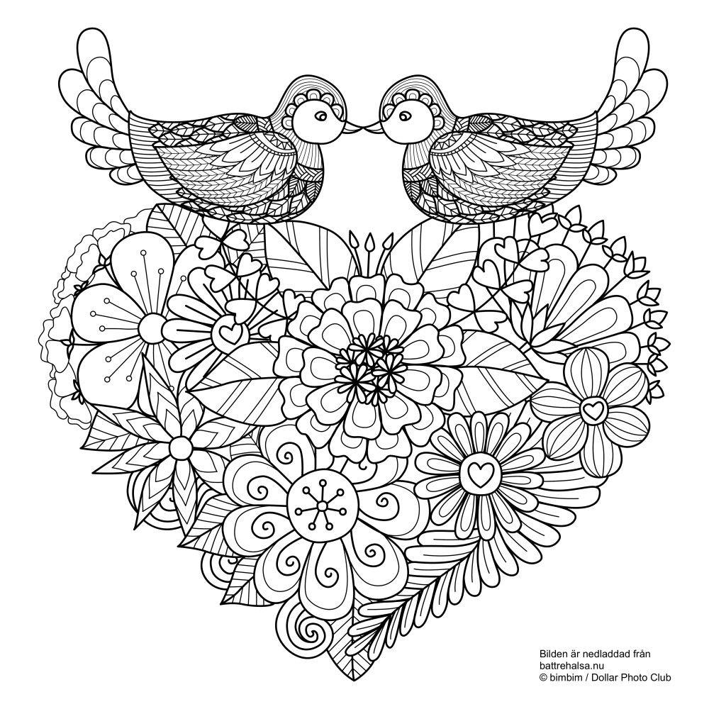 målarbilder alla hjärtans dag