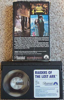Indiana Jones - Raiders of the Lost Ark Beta BetaMax Tape Movie