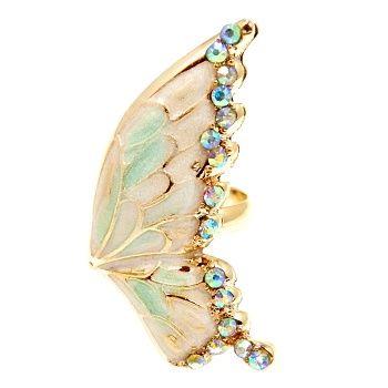 Talullah Tu - Wing Enamel Crystal Ring