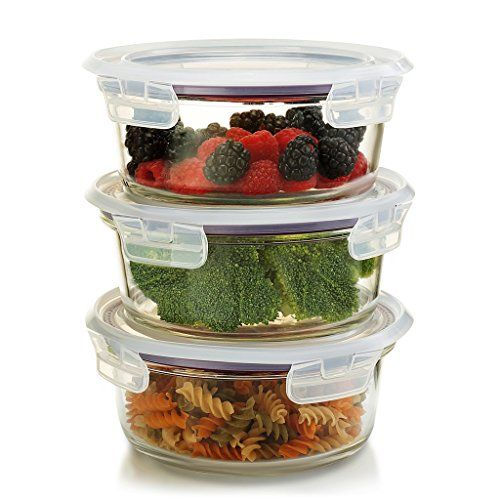 20 Pieces GlassLock Food Storage Airtight Anti Spill Glass Containers Set R