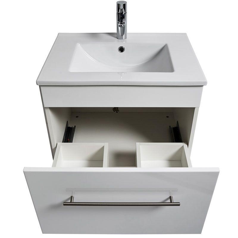 KWIQQ Waschtischunterschrank mit Waschtisch 60,5 x 46,5 cm