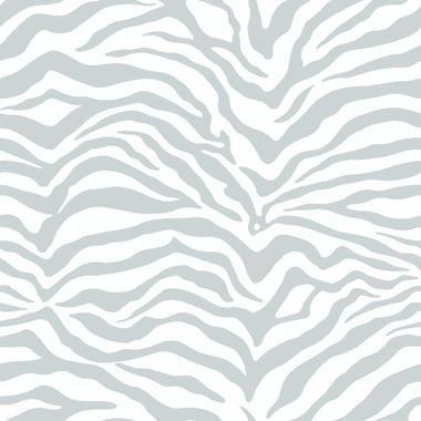 Metallics Book Zebra Skin Grey-White Wallpaper KD1799