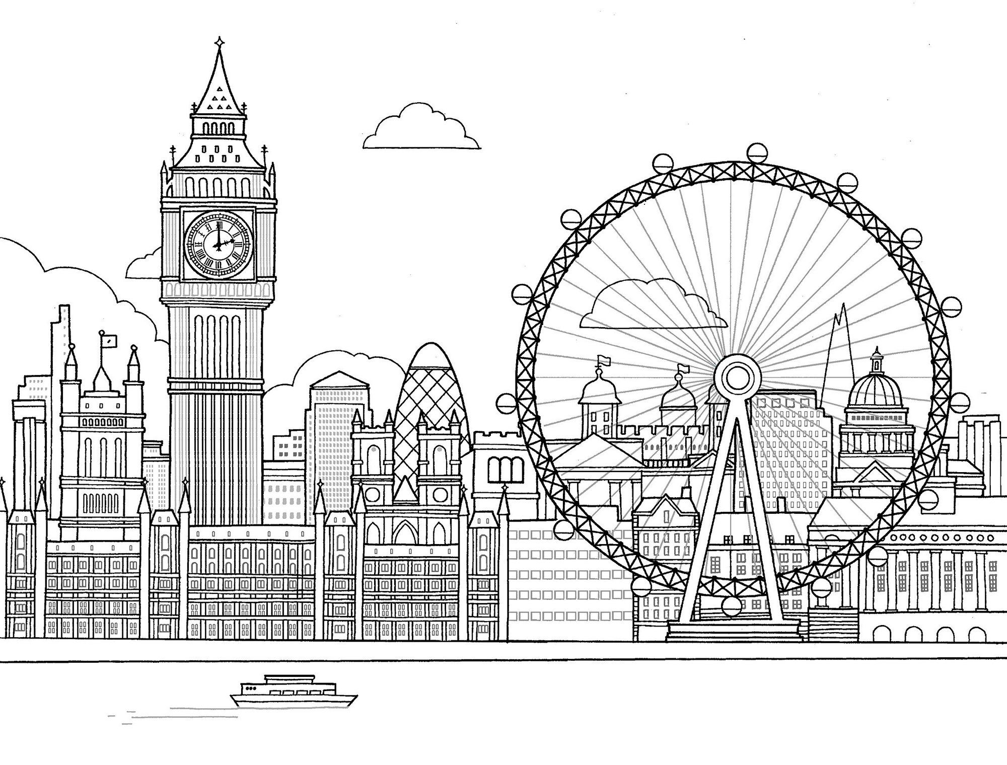 All About London Colouring Books Coloring Pages