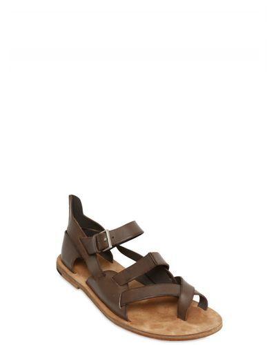 84b65e1bb8db87 Buy Dior Homme Men s Brown Calfskin Sandals