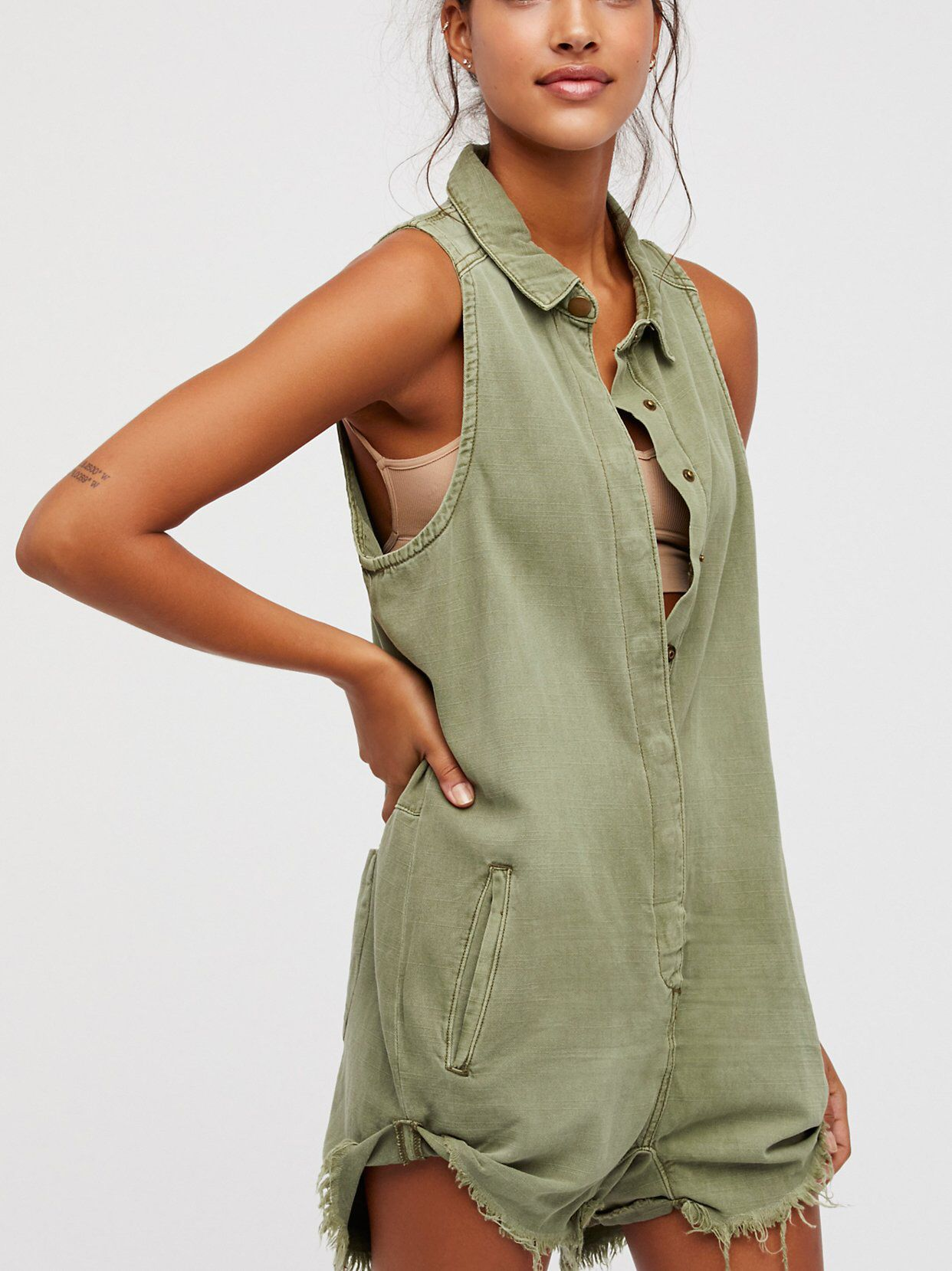 36304e763f Militaire Drill Playsuit from Free People!